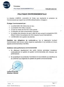Politique environnementale AERCO